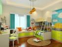 淡绿色儿童房效果图 12�O整体空间清爽且温馨_维意定制家具商城