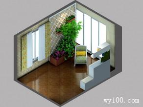 进门玄关装修效果图 13�O整个空间充满田园气息_维意定制家具商城