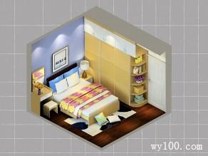 定制衣柜卧室效果图 11�O利用定制方式包梁避柱_维意定制家具商城