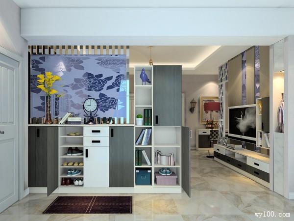 客厅餐厅一体户型效果图 46�O炫酷的灯光及配色_维意定制家具商城