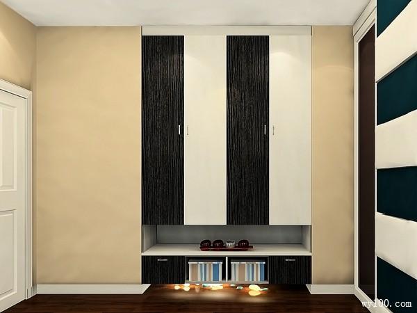黑白调卧室效果图 13�O奢华富有层次感_维意定制家具商城