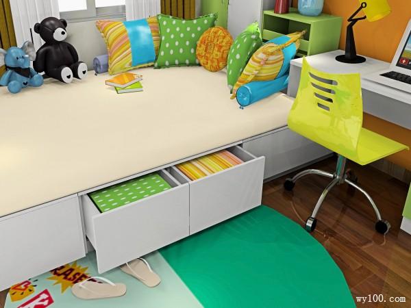 榻榻米设计儿童房效果图_维意定制家具商城