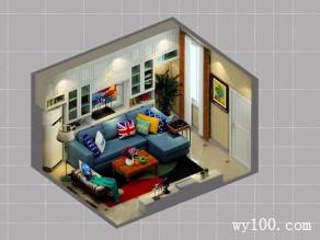 储物柜客餐厅效果图 16�O增加整个客餐厅储物量_维意定制家具商城