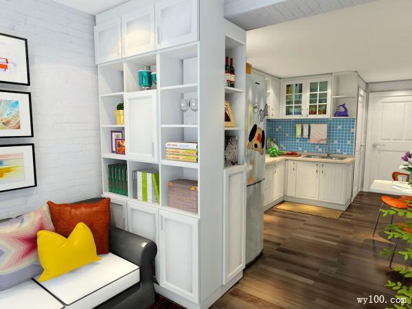 欧式隔断柜卧室装修效果图