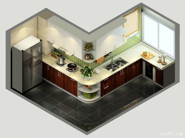 厨房装修效果图 让空间更宽敞更大气_维意定制家具商城
