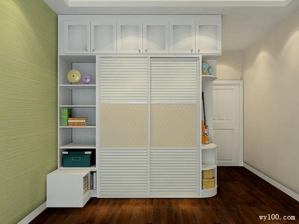 田园欧式卧室效果图 20�O圆弧衣柜打造温馨空间_维意定制家具商城