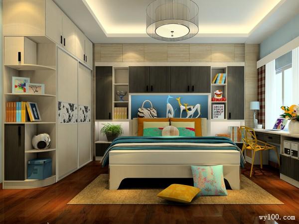 时尚装饰柜卧室装修效果图