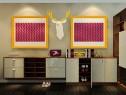 美式客餐厅分隔效果图 32�O复古不失现代感_维意定制家具商城