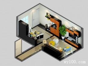 黑色客餐厅效果图 21�O震撼、大气、豪放_维意定制家具商城