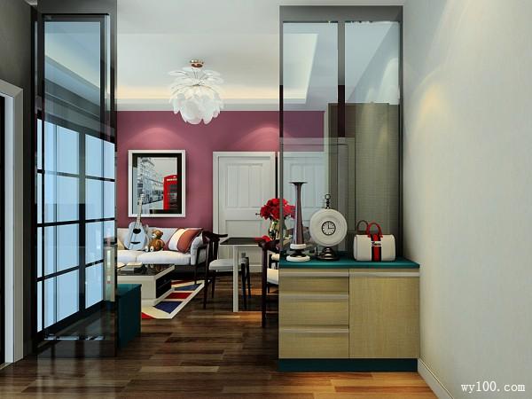 现代简约客餐厅吊顶效果图_维意定制家具商城