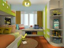 儿童房飘窗设计效果图 13�O整体摆放整齐大方_维意定制家具商城