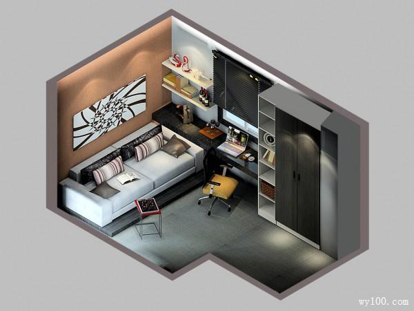 现代欧式书房 简约与典雅同在_维意定制家具商城