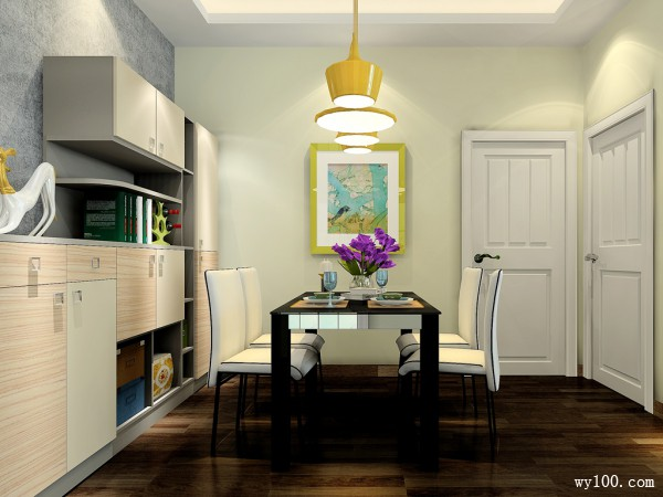 一字型户型客餐厅 30平左右分割效果佳_维意定制家具商城