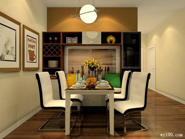 现代型客餐厅效果图 彰显知性沉稳大气氛围_维意定制家具商城