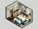 现代简洁的风格卧室设计 增强收纳又添休闲之风_维意定制家具商城