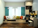 现代时尚卧室效果图 15�O也有大型的趟门衣柜_维意定制家具商城