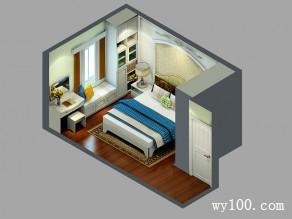 主卧室装修效果图 9�O田园白橡板材自然温和_维意定制家具商城
