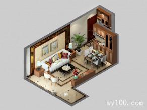 小户型客餐厅效果图 34�O合理利用空间_维意定制家具商城