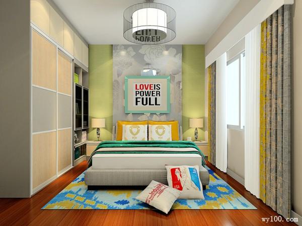 春天卧室效果图 12�O解决尖角带来的风水问题_维意定制家具商城