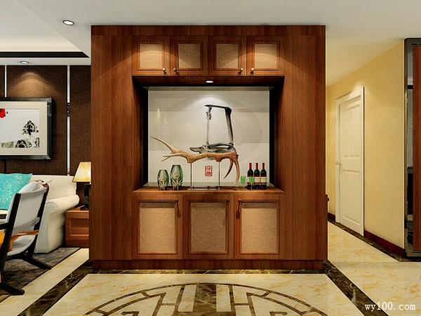 简约背景墙客餐厅效果图 89�O简约实用而大气_维意定制家具商城
