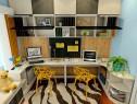 黑白色调书房效果图 7�O书柜和书桌结合设计_维意定制家具商城