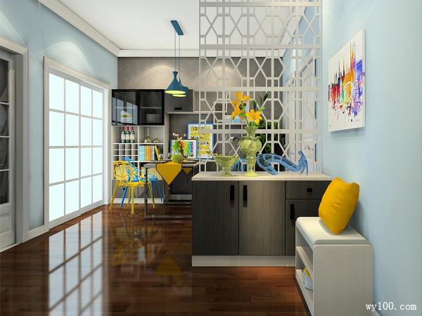 餐桌椅客餐厅效果图 55�O给人一种奋进的感觉_维意定制家具商城