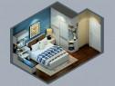 衣柜组合卧室效果图 13平合理利用空间_维意定制家具商城