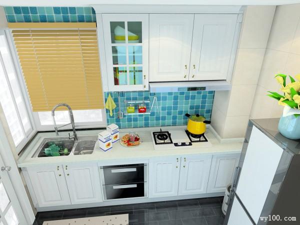 现代型厨房 充分体现了柜体的怀旧、优雅气息_维意定制家具商城