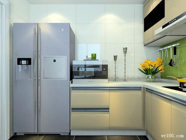 L型的橱柜厨房 吊柜增强空间收纳_维意定制家具商城