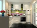 L型厨房效果图 5平整体空间色彩清新_维意定制家具商城