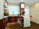u型厨房效果图 9平设计有吧台休闲区_维意定制家具商城