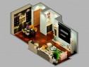 简约客餐厅效果图 30平自然拼搭_维意定制家具商城