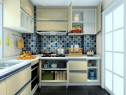 简约时尚厨房效果图 5平能够满足厨房的基本操作_维意定制家具商城