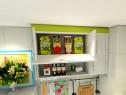 L型厨房效果图 4平整体风格清新自然_维意定制家具商城