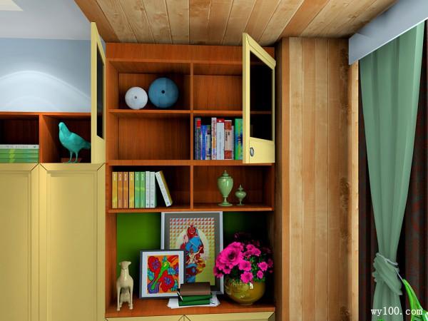 复古装饰柜书房装修效果图