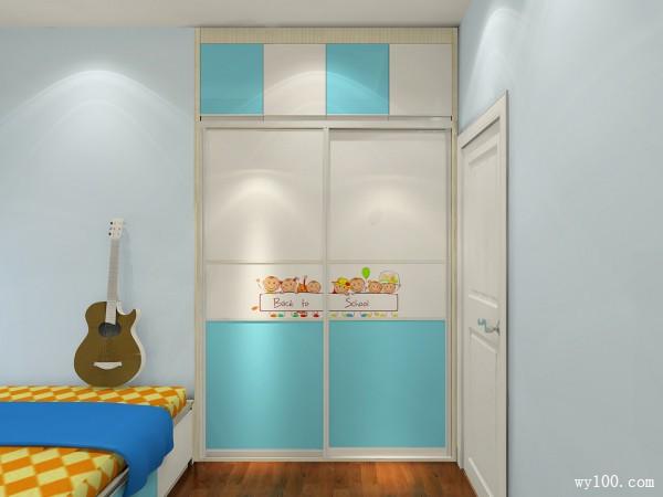 衣柜书桌儿童房效果图 11平增加房间的收纳空间_维意定制家具商城