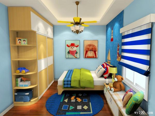 温馨自然儿童房效果图 13平满足户主的收纳需求_维意定制家具商城