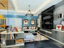 清新自然客餐厅效果图 58�O异形客餐厅空间_维意定制家具商城