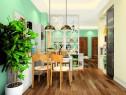 清新自然客餐厅效果图_维意定制家具商城