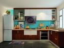 清新柜体厨房效果图 7�O整个空间美观性大大提高_维意定制家具商城