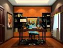 大气复古书房效果图 8�O空间充斥着成熟稳重感_维意定制家具商城