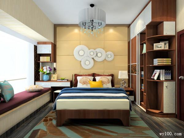 卧室飘窗吊顶效果图 10平背景墙搭配极致奢华_维意定制家具商城