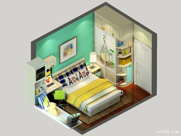 玩耍看书拼搭儿童房效果图_维意定制家具商城