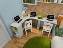 白色清爽卧室效果图 8平打造了一个温馨的卧室_维意定制家具商城