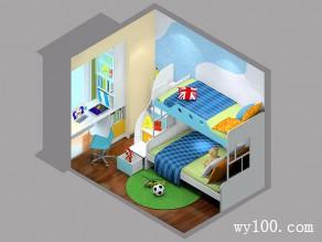 上下床儿童房效果图 6平极富孩童天真烂漫的色彩_维意定制家具商城