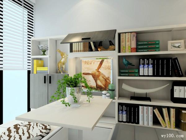 田园卧室效果图 25平充满生物气息_维意定制家具商城