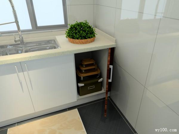 秋意厨房效果图 7平粗细的纹理打造出的自然效果_维意定制家具商城