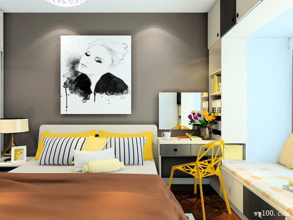 衣柜飘窗卧室效果图 14平增强收纳功能和实用性_维意定制家具商城
