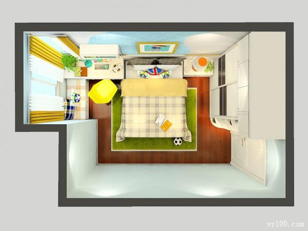 简约隔断柜儿童房装修效果图