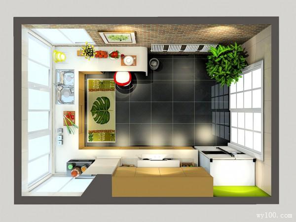 14�O吊柜厨房设计效果图_维意定制家具商城
